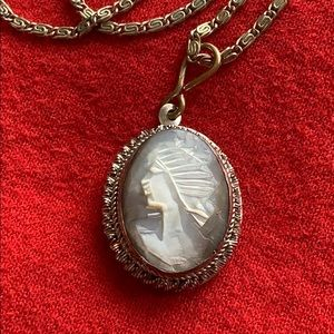 Antique Victorian 800 Silver Hand Carved Cameo